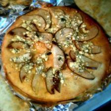 Pear Gorgonzola and truffle oil pizza